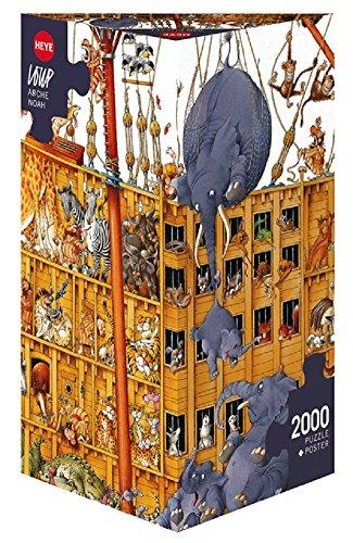 Heye Arche Noah (Noah's Ark) 2000 Piece Jean-Jacques Loup Jigsaw Puzzle