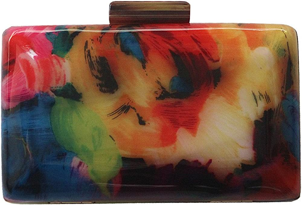 Brand New Evening bags Acrylic Fashion Woman Luxury Flower Print Women Shoulder Bags Casual Vintage Clutch