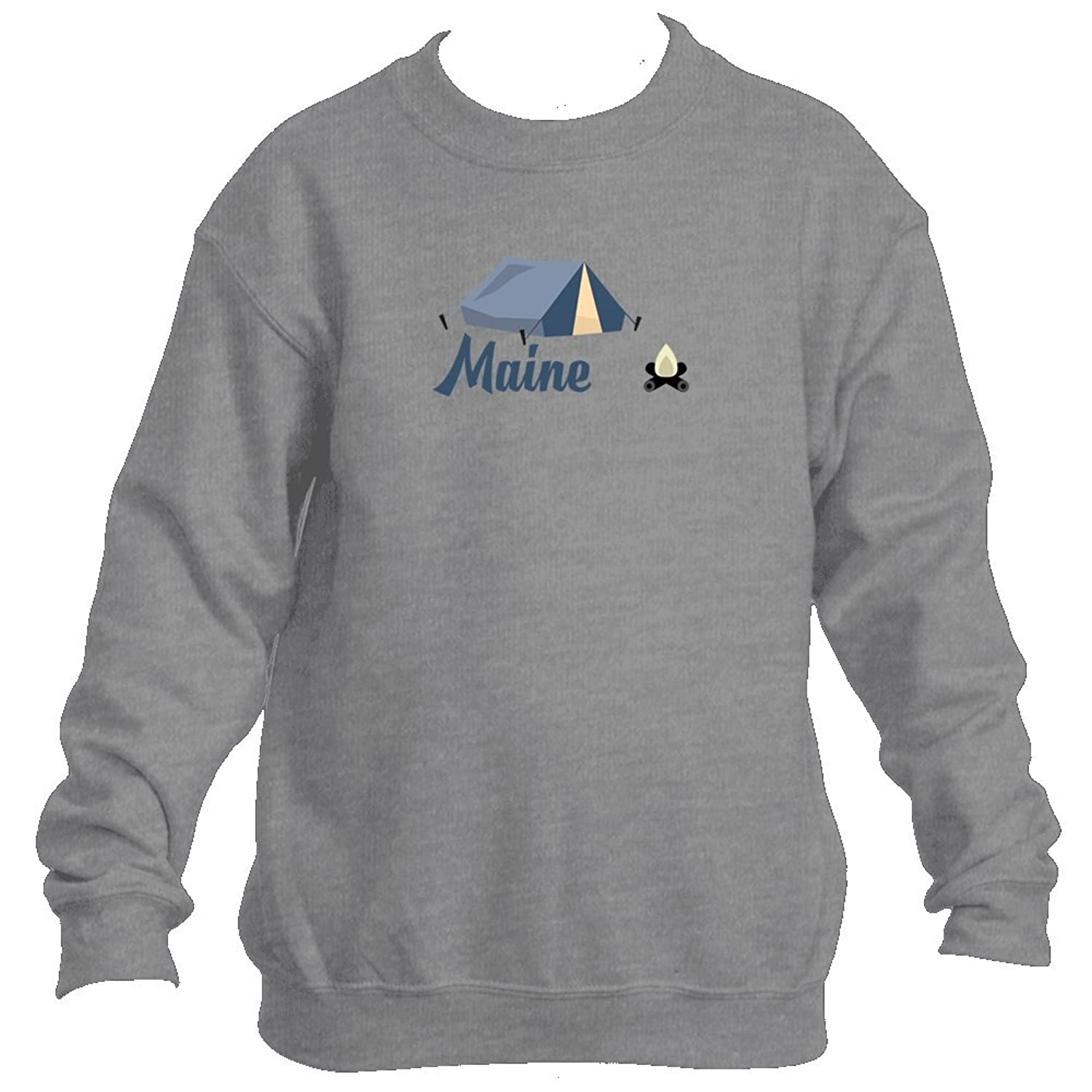 Camping & Camp Fire - Maine Youth Fleece Crew Sweatshirt - Unisex supplier