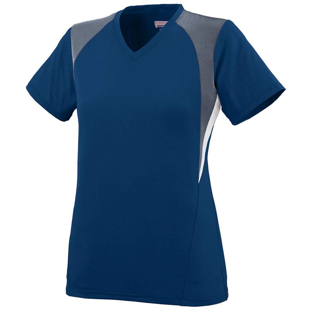 Augusta Sportswear Girls' Mystic Jersey M Navy/Graphite/White