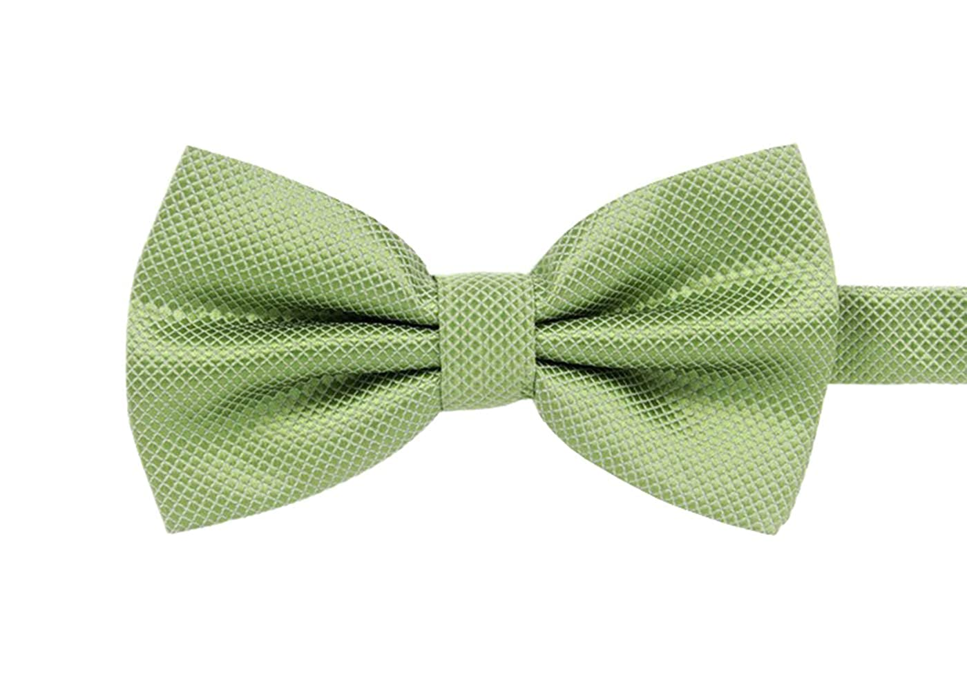 MENDENG Mens Solid Color Check Plaid Formal Pre-tied Bow Ties Tuxedo Dress Tie