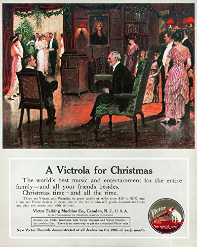 (Phonograph 1914 Namerican Magazine Advertisement 1914 For The Victor Talking Machine Company Poster Print by (24 x 36))