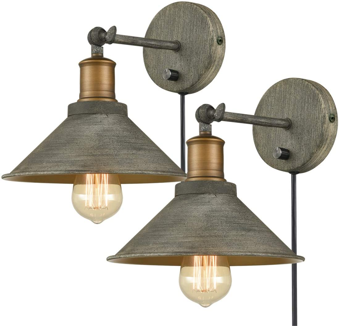 Vintage Swing Arm Wall Sconces Hardwired Or Plug In Bedroom Bath Wall Lamps Set Of 2