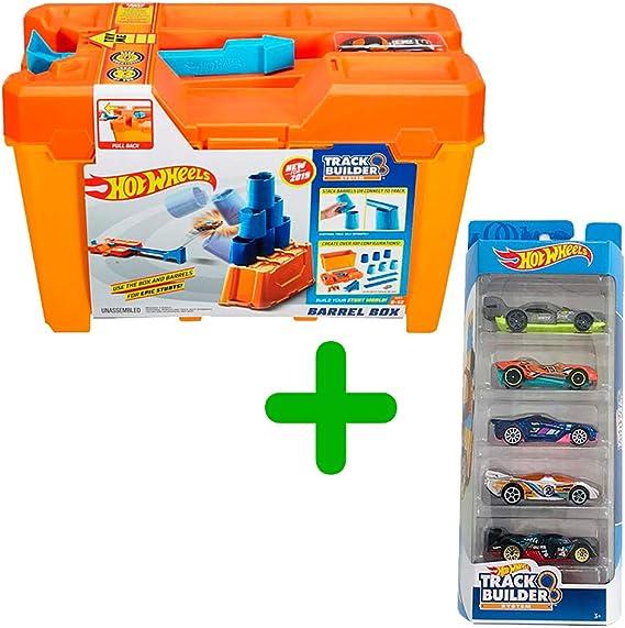 Hot Wheels Track Builder GCF91 + Set 5 Cars Track Builder: Amazon ...