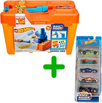 Hot Wheels Track Builder GCF91 + Set 5 Cars Track Builder: Amazon ...