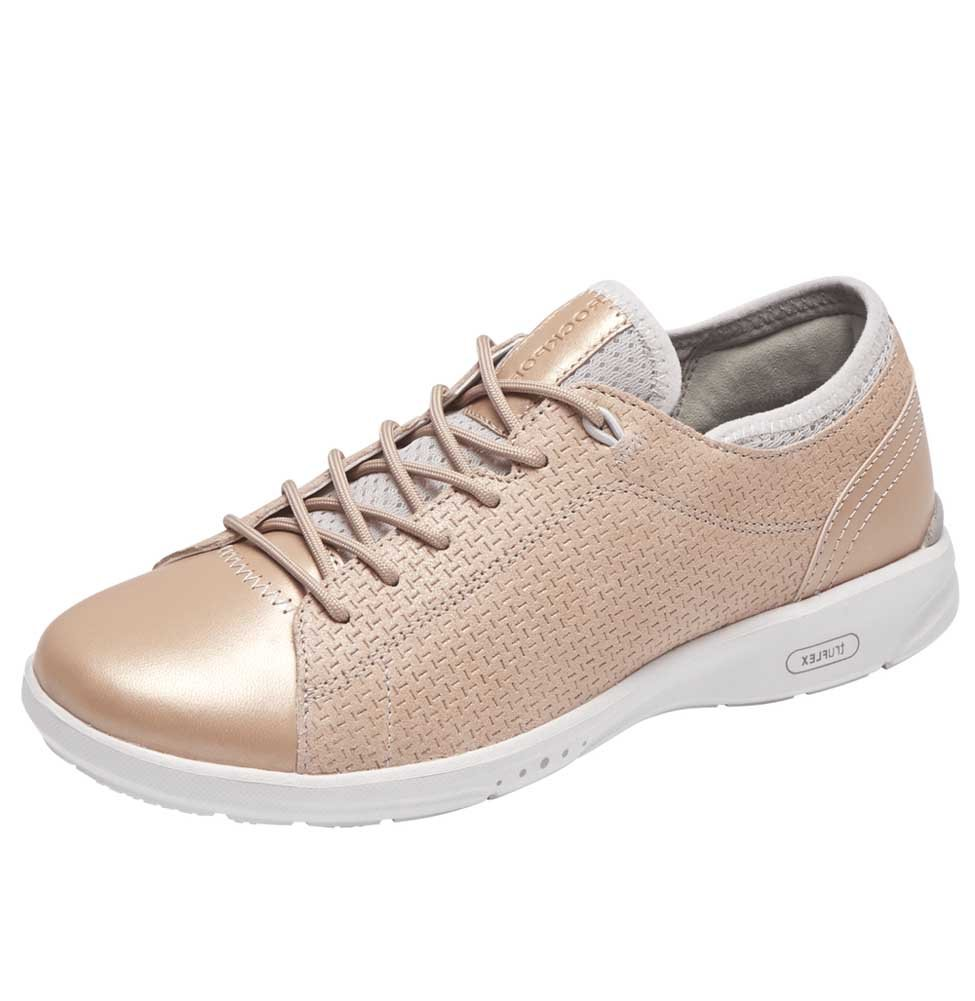 Rockport Women's Truflex W Lace to Toe Sneaker B077CTJRYW 9.5 N US|Blush