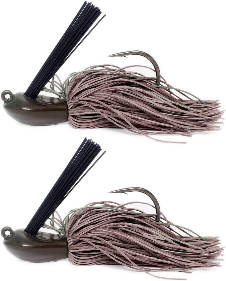 YZD Branzino Striato Esche da Gigging Gomma Tungsteno Gomma per Saltare Jig Struttura Jig 10g 12g 21g Bass Jigs per Esche Artificiali Esche da Pesca Ganci