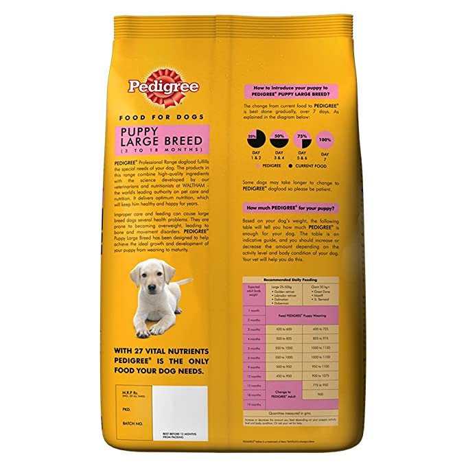 Buy Pedigree Professional Puppy Large Breed Premium Dog Food 3 Kg