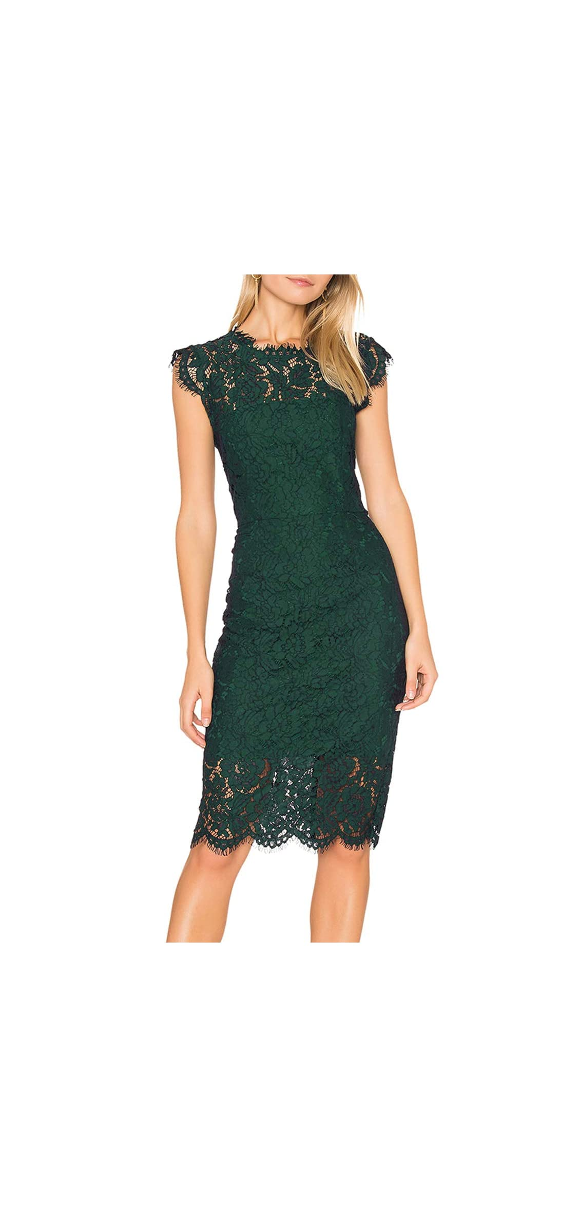 Women's Sleeveless Lace Floral Elegant Cocktail Dress