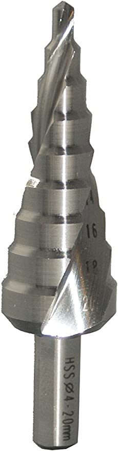 17334 Exact Eventus HSS Step Drill with Spiral Groove