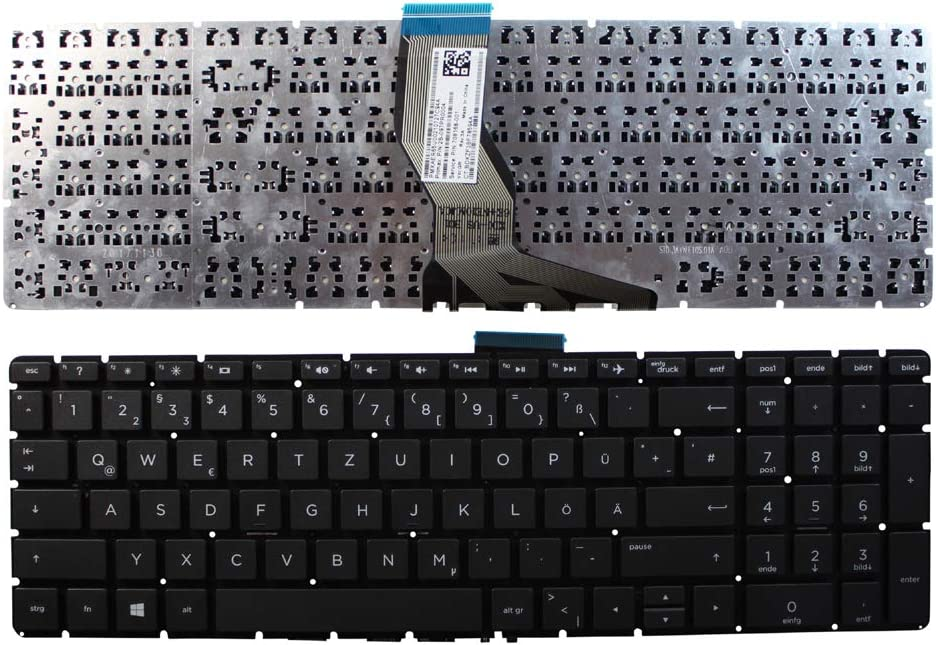 HP Home 15-bs025nf HP Home 15-bs025ne HP Home 15-bs025ng Keyboards4Laptops German Layout Black Windows 8 Laptop Keyboard Compatible with HP Home 15-BS025la HP Home 15-bs025nc