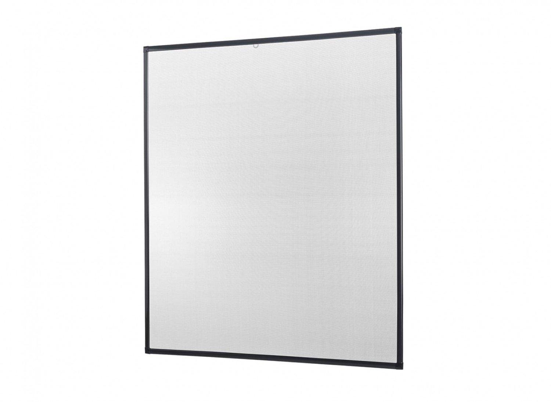 Insektenschutz Fliegengitter Fenster Alurahmen Basic Zuschnitt weiß , braun oder anthrazit, in verschiedenen Grö ß en, ohne Bohren und Schrauben empasa