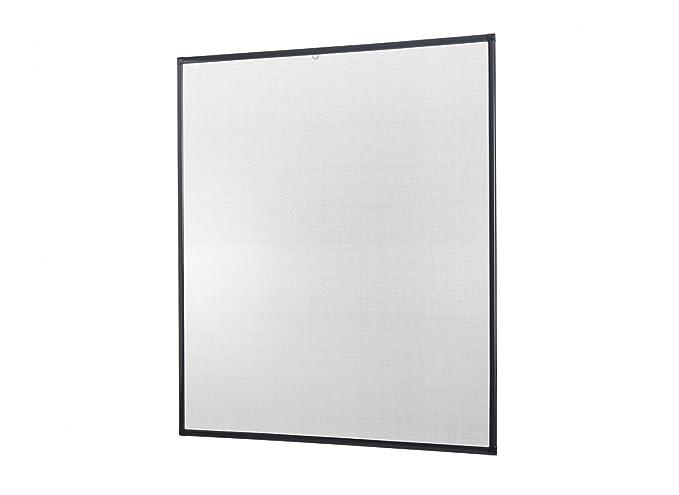 Insektenschutz-Fenster Basic 100 x 120 cm in Weiß, Braun oder Anthrazit als Bausatz auf Maß geschnitten oder komplett aufgeba