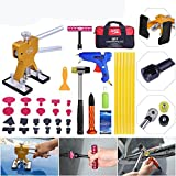 AUTOPDR 35Pcs Car Body Paintless Dent Removal Repair Tools Kits Dent Lifter Silde Hammer PDR Hail Damage Repair Tools