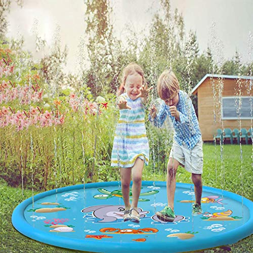 (Tpingfe Kids Outdoor Summer Fun Game Party Toy Sprinkler pad Play Mat Toddler Water Toys (100cm))