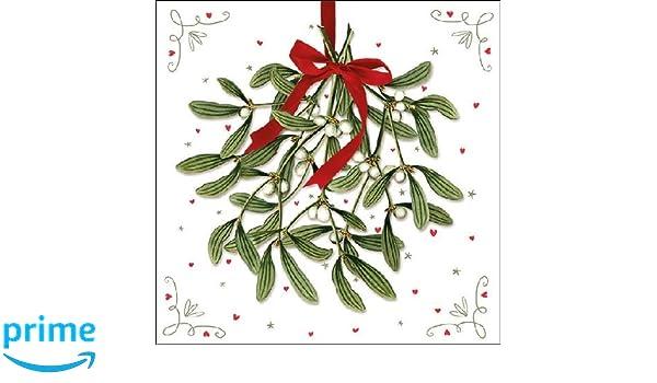 Ambiente de Navidad servilletas 33/cm Mistletoe servilletas