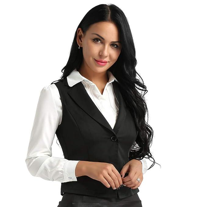 Agoky Chaleco Mujer Chica Vestimenta Classico Traje Formal ...