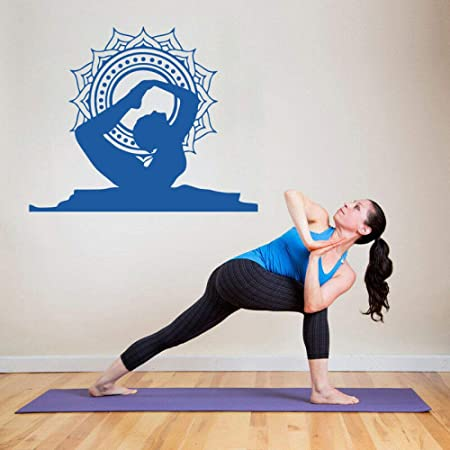 Geiqianjiumai Yoga Bow Pose Posición Etiqueta de la Pared ...