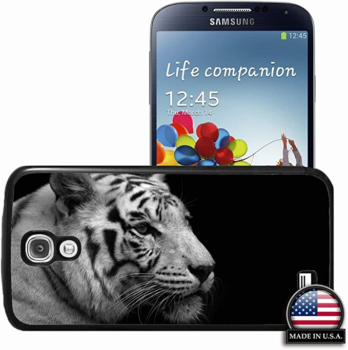 Samsung Galaxy S4 Siv Animals Tiger White Black Black And White Wallpaper Of Girlfriend Gift Black Cell Phone Skin For Men Amazon Co Uk Electronics