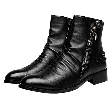 88eedf3b289a8 Amazon.com: Giles Jones Motorcycle Boots for Men Autumn Winter High ...