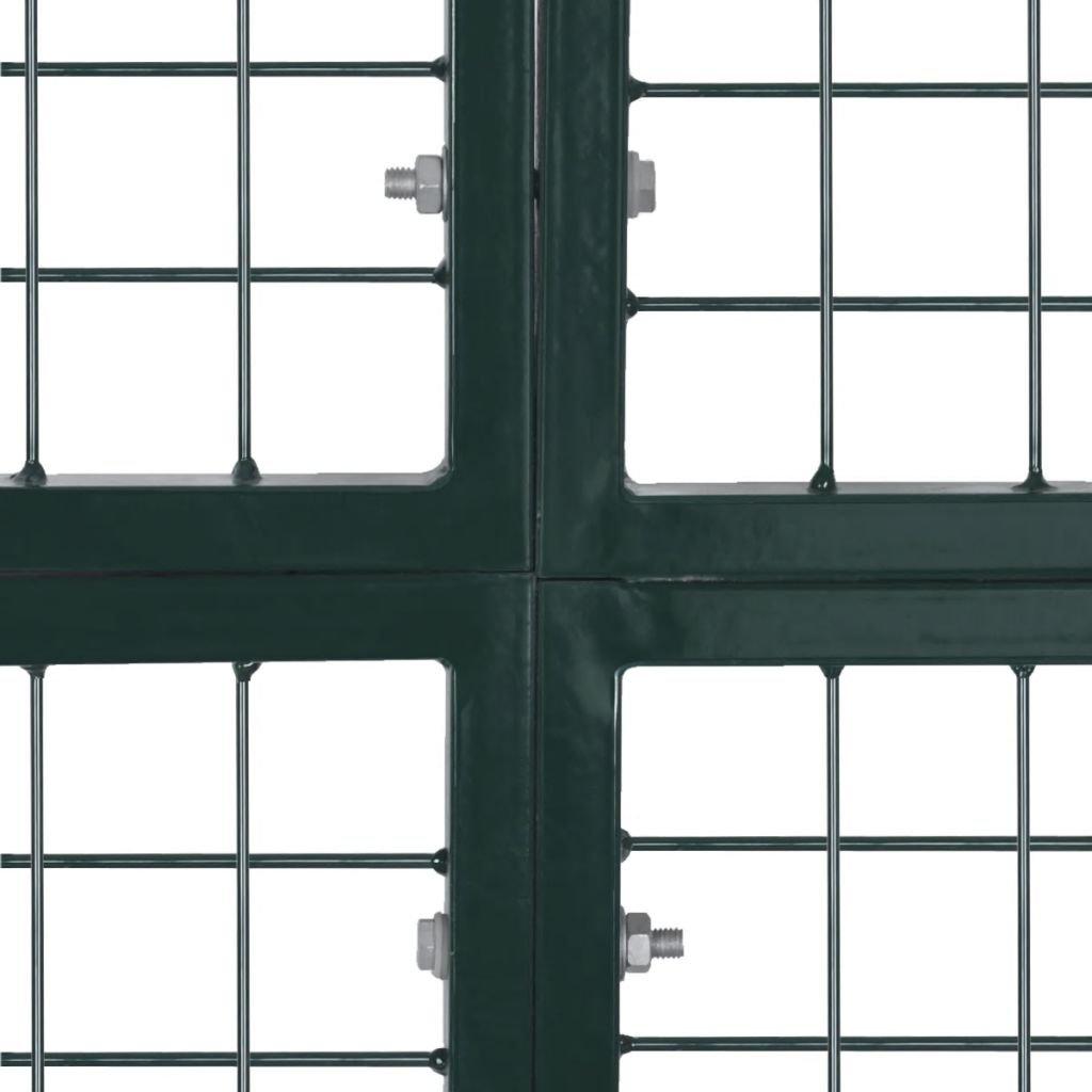 Porte Portail de Cl/ôture en Grillage Galvanis/ée 300 x 200 cm