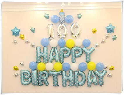 Amazon com: The Baby Birthday Party is Decorated with