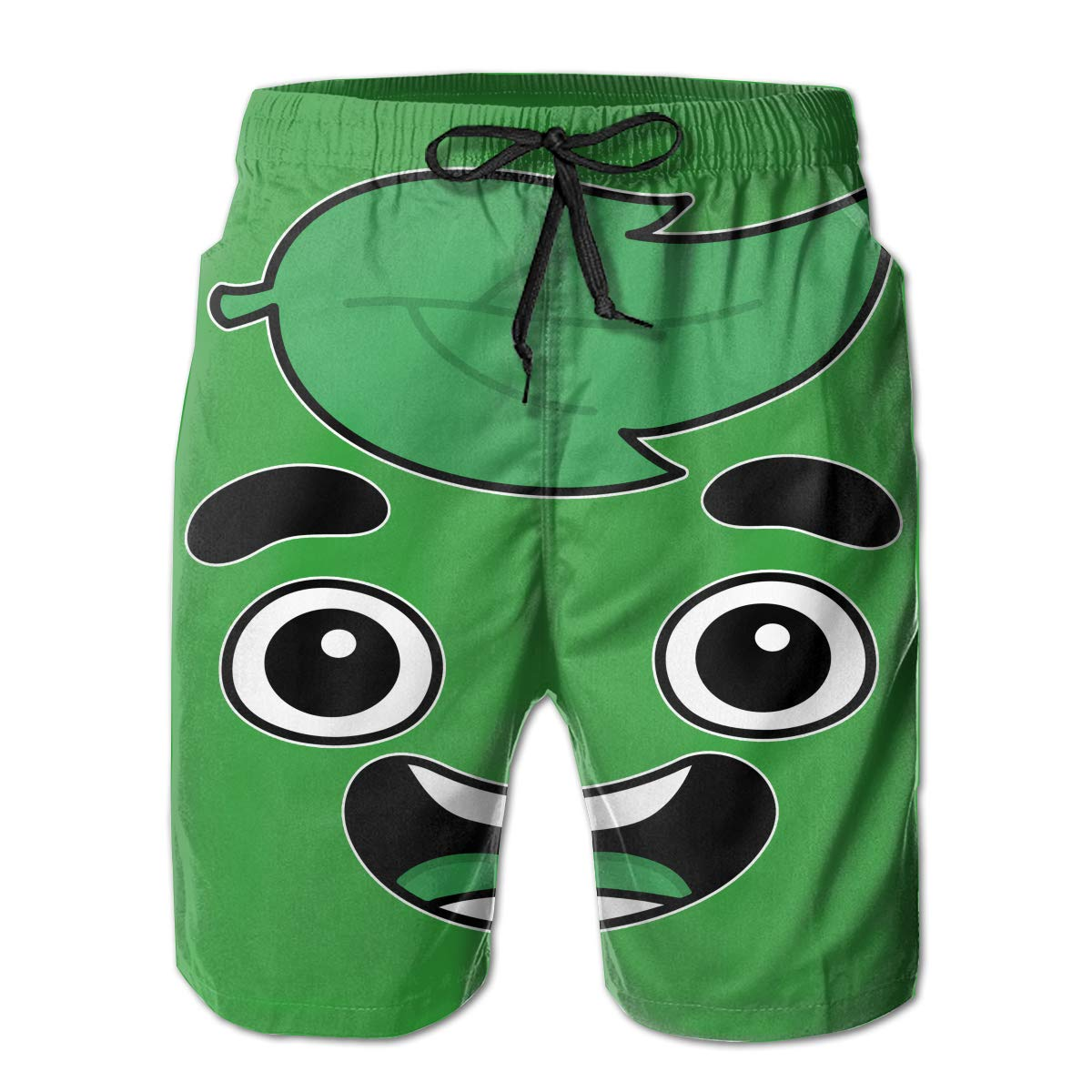 KBRWLOVESHORT Mens Special Guava Juice Face Swim Trunk Quick Dry Summer Surf Beach Boardshorts with Mesh Lining//Side Pockets