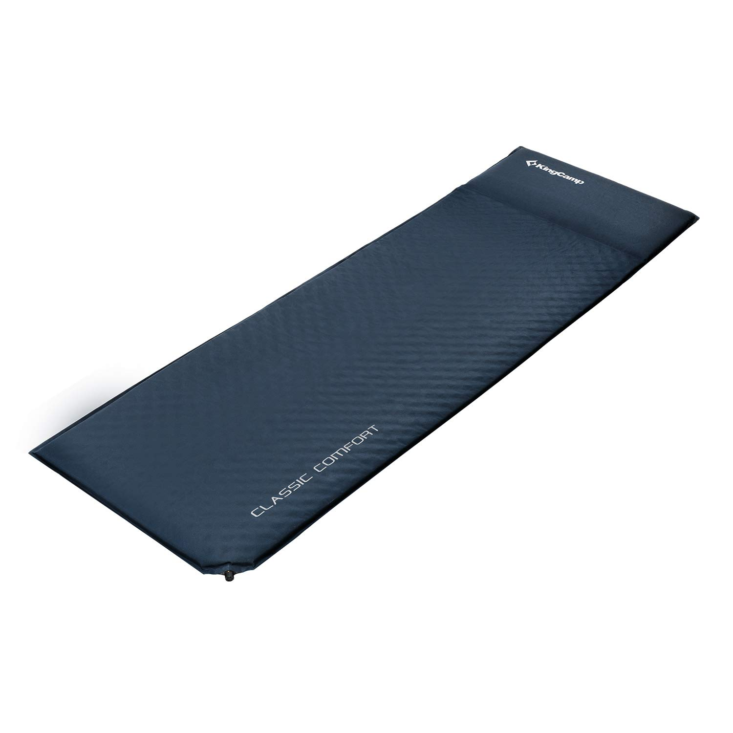 KingCamp CLASSIC Light Comfort Self-Inflating Camping Sleeping Pad with Built-in Pillows
