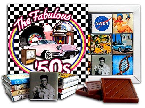 DA CHOCOLATE Candy Souvenir THE 50'S Chocolate Gift Set 5x5in 1 box (Checkered Prime)