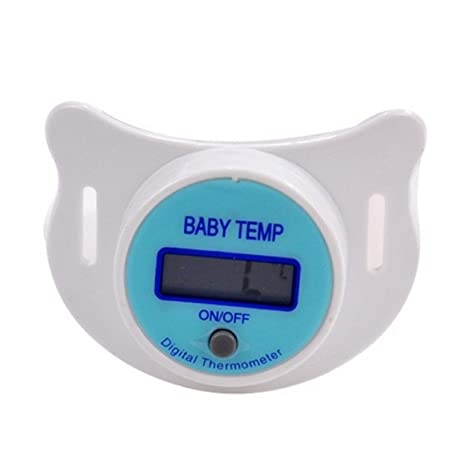 Amazon.com : (2 Color) Hot Baby Infants LCD Termometro Digital Mouth Nipple Pacifier Thermometer Temperature Practical Diagnostic-tool Monitores (White) : ...