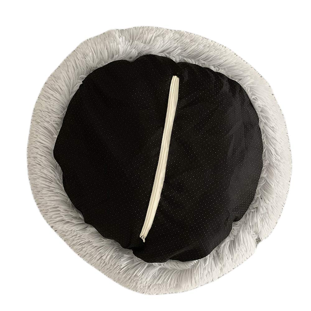 70cm, Coffee Round Pet bed Calming Bed Plush NestWarm Soft Cushion Donut Cuddler Cat Dog Puppy Comfortable for Sleeping Winter