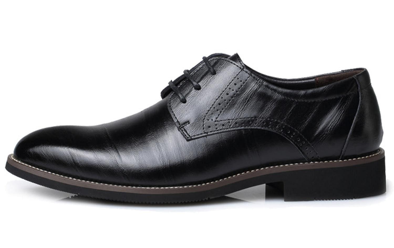 XDGG Männer echtes Leder spitzte Zehe Business Casual Schuhe Schuhe Große Größe Arbeit Hochzeit Schuhe Casual , 37 003493