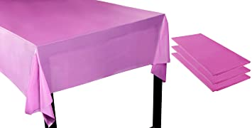 Amazon Com Fuchsia Pink Plastic Tablecloth 3 Pack 54 X 108 Inch