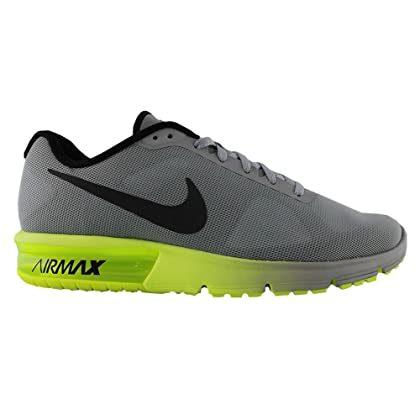 uk availability d06d3 0efb4 NIKE Men Air Max Sequent Running Shoes (8.5 D(M) US, Wolf Grey Black Volt)