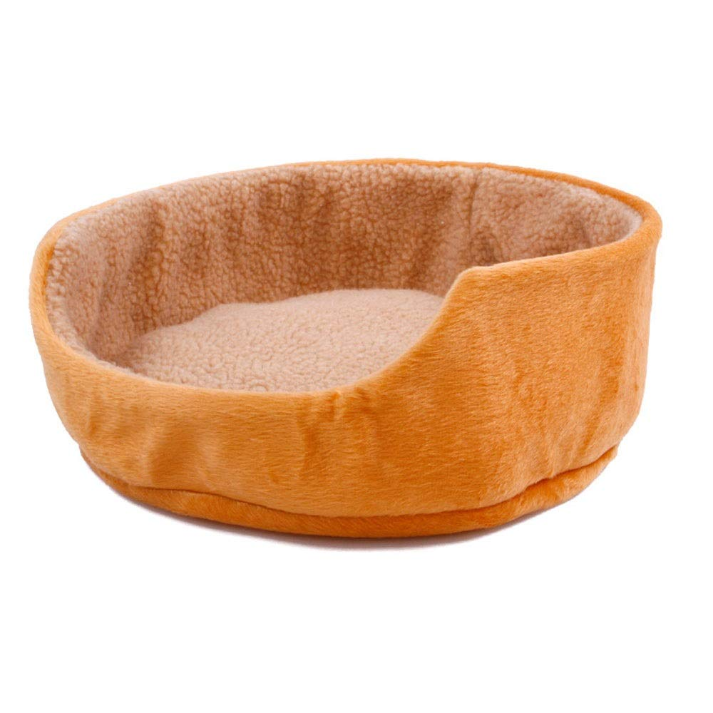 BROWN BEITAI Dog Bed Cat Bed Waterloo Breif New Nest Soft Cotton Footprints Design Style Cute Comfortable Pet Nest Pet All Seasons (color   Brown)