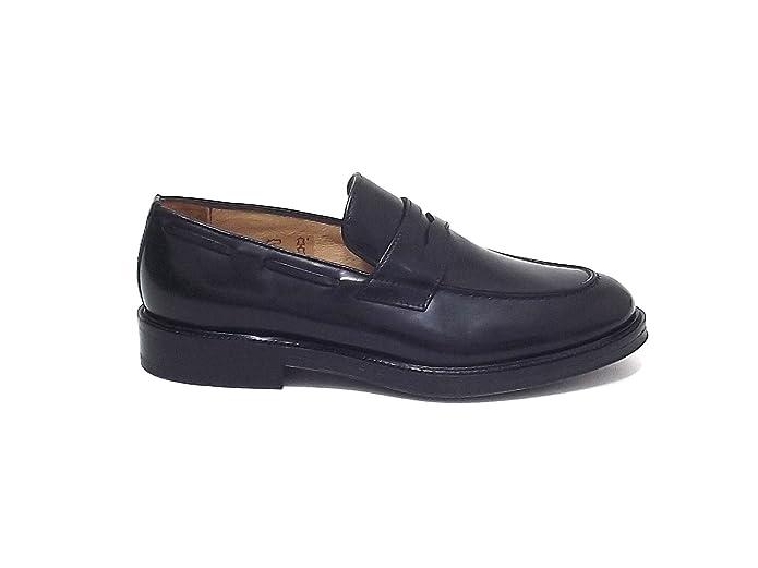 Soldini uomo 19939 scarpa mocassino pelle nero A7102