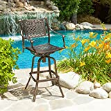 Sierra Outdoor Cast Aluminum Swivel Bar Stool