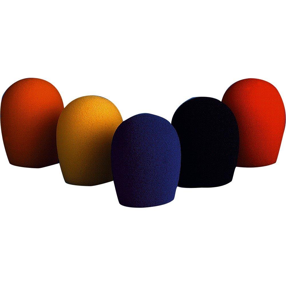bonnettes multicolores 5 P. SM58 noir, jaune, orange, bleu MUSIC STORE