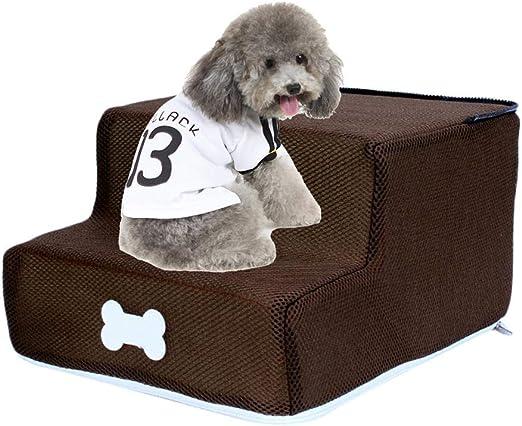 Gravere Escaleras para Mascotas 2 peldaños Escaleras para Perros ...