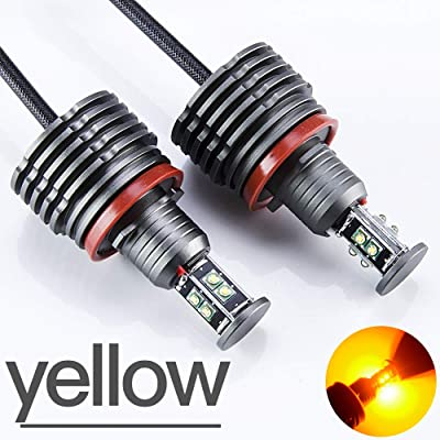 SINOVCLE H8 Angel Eyes E92 LED Marker LED Chips Yellow light 240W 80W for E90 X5 E71 X6 E82 M3 E60 E70: Automotive