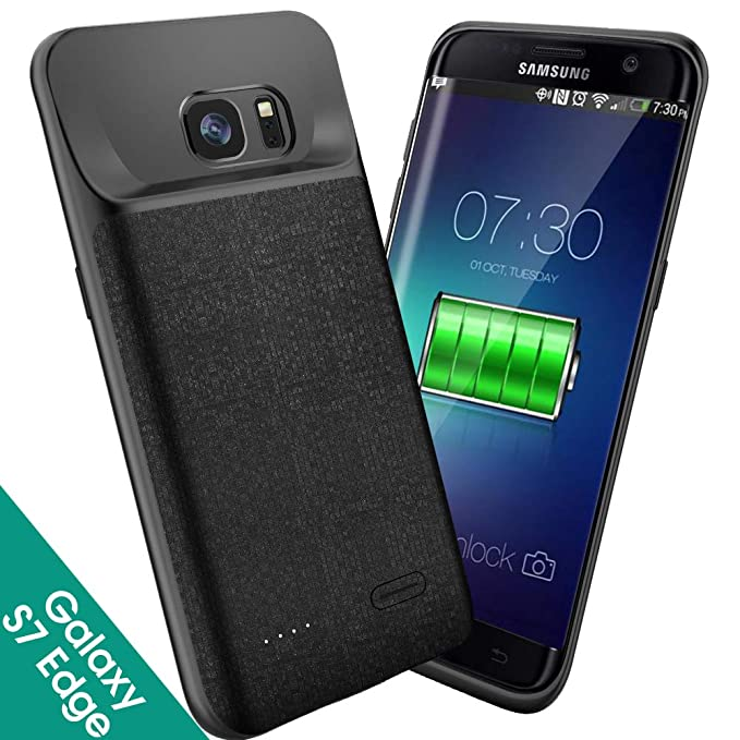 best service d044c e23b9 Amazon.com: Samsung Galaxy S7 Edge Battery Case Slim, Newdery ...