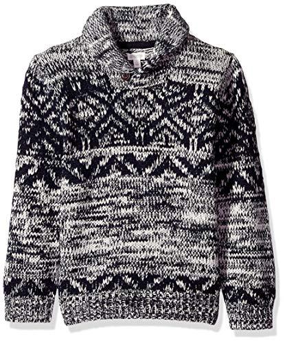 Gymboree Boys' Big Long Sleeve Shawl Collar Cardigan, Cloudy Grey, L