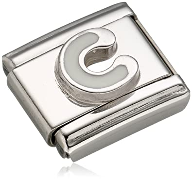 Nomination COMPOSABLE CLASSIC Women s Charm Stainless Steel Enamel Letter C  330205 03  Amazon.co.uk  Jewellery a036dace6