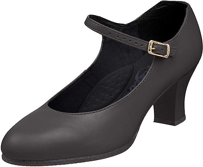 Capezio Womens 459 Suede Sole Jr Footlight Character Shoe