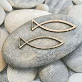 20tovaglioli Decision–Pesci su pietre/CRESIMA/Comunione/battesimo 33x 33cm