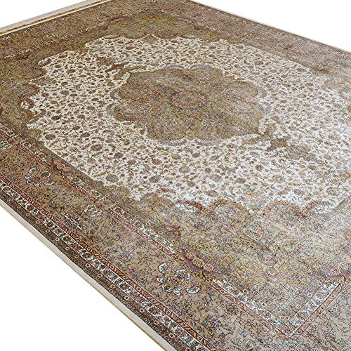Camel Carpet Hand Knotted Large Silk Area Bedroom Living Room 9x12 ()