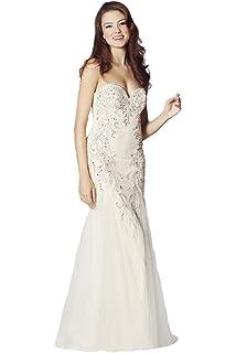 Tiffanys Illusion Prom Ivory Mermaid Style Dress, Fantasia