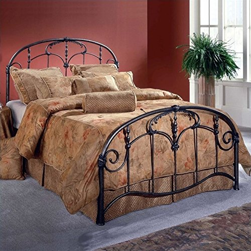 Hillsdale Furniture 1293BFR Jacqueline Bed Set with Rails, Full, Old Brushed Pewter - Hillsdale Brass Bed