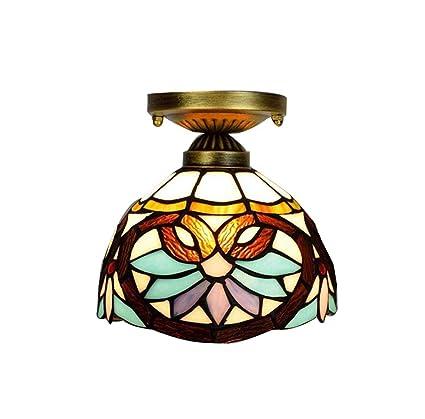 8 pulgadas Tiffany Style Ceiling Light Lámpara de techo de ...