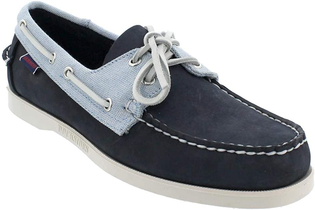 Sebago Docksides Men 7002T80-974 sebago Nubuck // Panama navy-light blue-white
